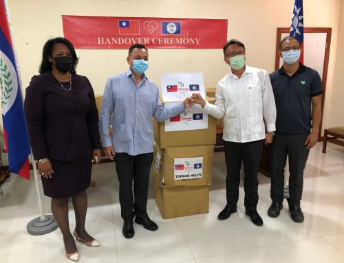 Taiwan Embassy – Donation of Health Safety Equipment